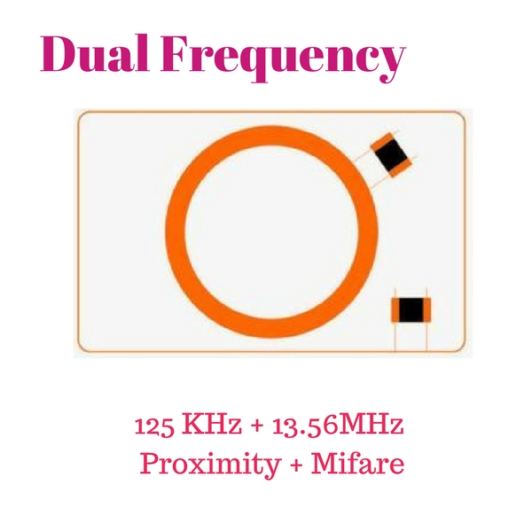 125 KHz+13.56MHz Dual Frequency บัตร 2 ความถี่