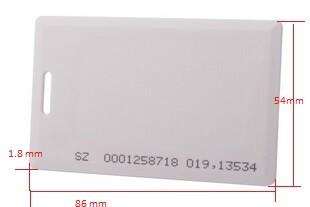 บัตรหนา, 1.8 mm, 125khz,tk4100,em4100,thick card, Proximity,80 cm,บัตรพนักงาน,บัตรเข้าออกหมู่บ้าน,หัวอ่านระยะใกล้,หัวอ่านระยะสั้น,หัวอ่านทาบบัตร